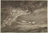 A Landscape with a Herd of Cows and Goats, Surmounted by Another Landscape, Upside-down, with a Man Pushing a …