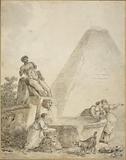 A Roman Capriccio with the Pyramid of Gaius Cestius