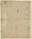 The Head of Saint George and Architectural Plans (verso)