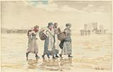 Four Fishwives on the Beach