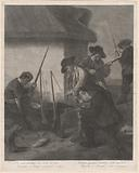 De Servi Cacciator … (Servants Preparing the Guns for the Hunt)