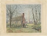 David Burns's Cottage and the Washington Monument