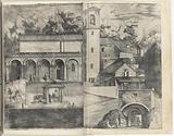 View of the Quadrant: the Main Door, the Square, the Church and the Loggia of the Monastery of the Monte della Vernia …