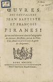 Oeuvres des Chevaliers Jean Baptiste et François Piranesi