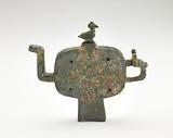 Ritual wine vesssel (hu) with bird-shaped cover