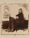 Portrait Sketch of Thomas Carlyle
