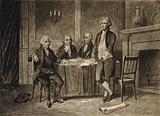 Leaders of the Continental Congress - John Adams, Morris, Hamilton, Jefferson