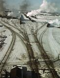 General view of one of the classification yards of the C & NW RR