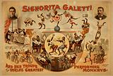 Signorita Galetti and her troupe of the world's greatest performing monkeys