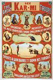 The great Victorina Troupe originators and presenters of the most marvelous sword swallowing act on earth