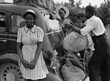 Group of Florida migrants on their way to Cranberry, New Jersey, to pick potatoes