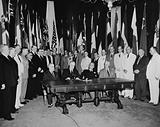 Washington, DC Representatives of 26 United Nations at Flag day ceremonies in the White House to reaffirm their pact