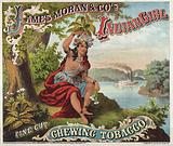 James Moran & Co.'s Indian Girl Chewing Tobacco