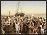 Disembarking from a ship, Algiers, Algeria