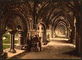 St. Bavon Abbey, the cloister, Ghent, Belgium