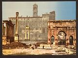 Temple of Saturn and Triumphal Arch of Septimus Severus, Rome, Italy