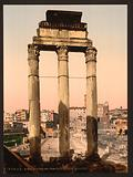 Ruins of Temple of Castor and Pollux, Rome, Italy