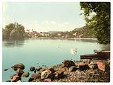 Thun with view of Lake of Thun, Bernese Oberland, Switzerland