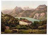 Axenfels, with Urirothstock, (i.e., Urirotstock), Lake Lucerne, Switzerland
