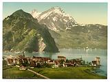 Stanstaad and Pilatus, Lake Lucerne, Switzerland