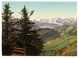 Stanserhorn, view of Mount Titlis, Unterwald, Switzerland