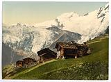Saas Fee, alpine view, Valais, Alps of, Switzerland