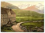 Simplon Pass, the hospice, Valais, Alps of, Switzerland