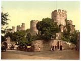 Castle entrance, Conway (ie Conwy), Wales