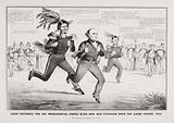 The great footrace for the presidential purse (100,000 and picking) over the Union Course 1852