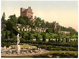 Drummond Castle from SW (ie Southwest), Scotland