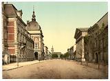 Prince's castle and Cavalier Street, Anhalt, Germany