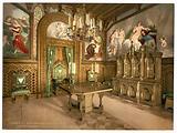 Pictures of the Tannhauser story, Arbeitszimmer, Neuschwanstein Castle, Upper Bavaria, Germany