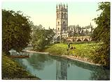 Magdalen Tower, from the river, Oxford, England