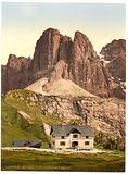 Grodnerjoch, hospice and Sella, Tyrol, Austro-Hungary