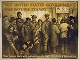 Buy United States government war savings stamps Your money back with interest from the United States Treasury