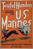 Teufel hunden, German nickname for US Marines Devil dog recruiting station, 506 Fifth Street
