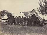 President Lincoln on battle-field of Antietam, October, 1862