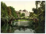 Scene in the Botanical Gardens with Director of Customs Building, Hamburg, Germany