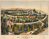 Birds eye view of Mt Vernon, the home of Washington