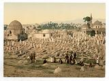 The cemetery where the family of Mahomet are buried, Damascus, Holy Land, (ie Syria)