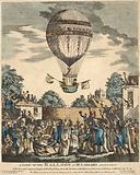 A view of the balloon of Mr. Sadler's ascending with him and Captain Paget of the Royal Navy from …