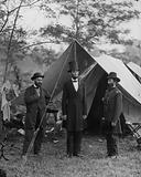 Antietam, Md. Allan Pinkerton, President Lincoln, and Maj. Gen. John A. McClernand; another view