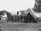 Antietam, Md. President Lincoln with Gen. George B. McClellan and group of officers