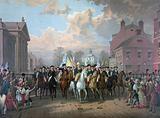 """Evacuation day"" and Washington's triumphal entry in New York City, Nov"