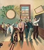 Bowling alley. Date c1894 May 2