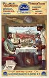 Pullman compartment cars through trains – interior of dining cars on the Cincinnati, Hamilton & Dayton RR Print shows …