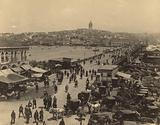 Aerial view of the Galata Bridge, Istanbul
