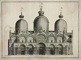 Faciata principale al ingresso della Ducal Chiesa di S Marco, dirimpetto la Piazza grande