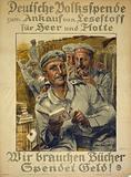 Deutsche Volksspende zum Ankauf von Lesestoff für Heer und Flotte