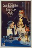 """Saturday night. Motion picture poster for the film """"Saturday Night"""" shows a flirtatious young woman and an older man …"""